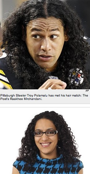The Post's Raakhee Mirchandani gives NFL star Troy Polamalu tips on how to tame his hair - NYPOST.com