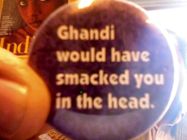 quasi-funny button on my desk: